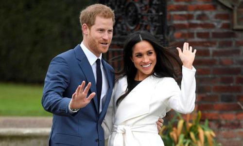 Theo lý thuyết, con của Hoàng tử Harry và Markle vừa có thể thừa kế ngai vàng nước Anh, vừa tranh cử tổng thống Mỹ. Ảnh:Reuters.