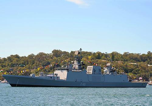 Tàu chiến tàng hìnhINS Sahyadri của Hải quân Ấn Độ.