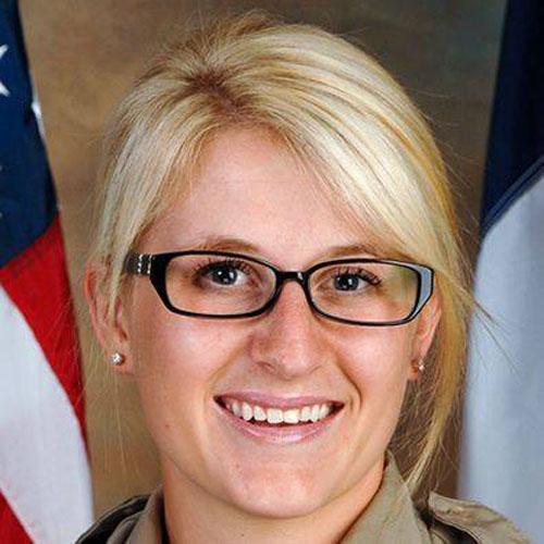 Phó cảnh sát trưởng quận Gaston Katelyn Tyler Self, nạn nhân trong vụ đâm. Ảnh: Gaston County Sheriffs Office.