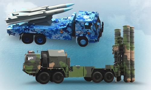 Tầm hoạt động của hai mẫu tên lửa Trung Quốc đưa ra Trường Sa. Bấm vào ảnh để xem đầy đủ.