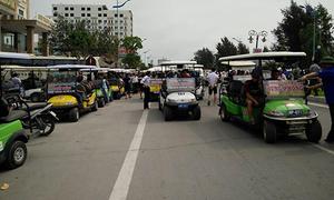Nhiều xe điện không đăng kiểm tràn xuống đường phố Sầm Sơn