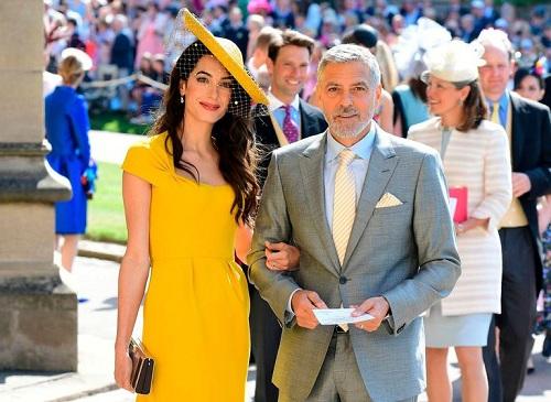 Nam diễn viên, nhà sản xuất phim và đạo diễn nổi tiếng người Mỹ George Clooney cùng vợ, luật sư nhân quyền người Anh Amal Clooney. Ảnh: AFP.