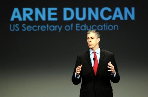 Cựu Bộ trưởng Giáo dục Mỹ Arne Duncan. Ảnh: Reuters