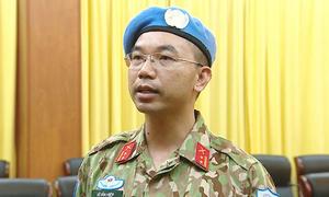 7 sĩ quan Việt Nam làm nhiệm vụ gìn giữ hòa bình Liên Hiệp Quốc