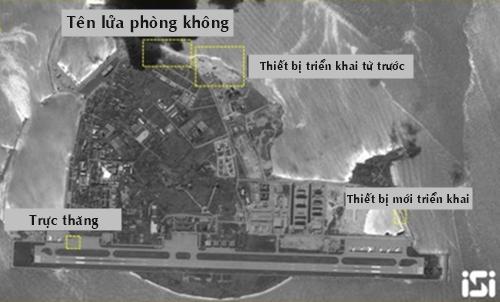 Ảnh vệ tinh đảo Phú Lâm ngày 20/5. Ảnh: ISI.