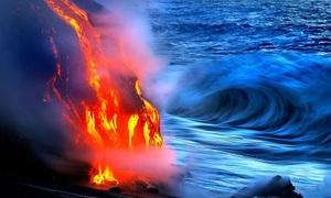 Hậu quả khi dung nham núi lửa chảy xuống biển