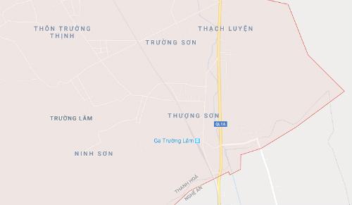 Vị trí nơi xảy ra tại nạn gần ga Trường Lâm.