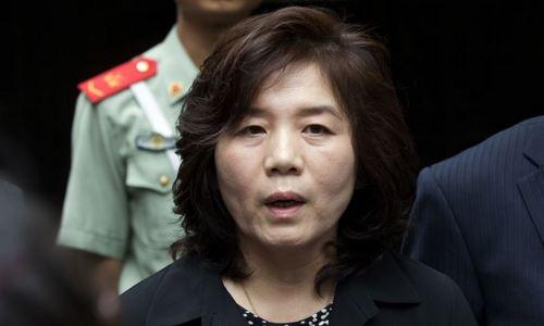 Thứ trưởng Ngoại giao Triều Tiên Choe Son-hui trong chuyến thăm Trung Quốc năm 2016. Ảnh: AFP.