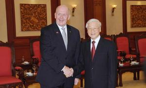 Toàn quyền Australia gặp gỡ các lãnh đạo Việt Nam