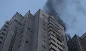 Cháy tầng 18 chung cư ở Hà Nội, hàng trăm người tháo chạy