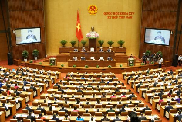 Quốc hội dành trọn ngày làm việc 25/5 để thảo luận về kinh tế - xã hội. Ảnh: QH