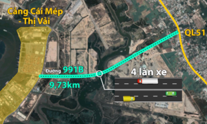 Khởi công đường 4.000 tỷ nối cảng Cái Mép với quốc lộ 51