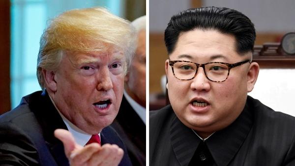 Tổng thống Mỹ và lãnh đạo Triều Tiên. Ảnh: Reuters, KCNA.
