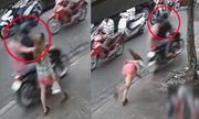 Cô gái bị tên cướp giật dây chuyền ngã văng xuống đường