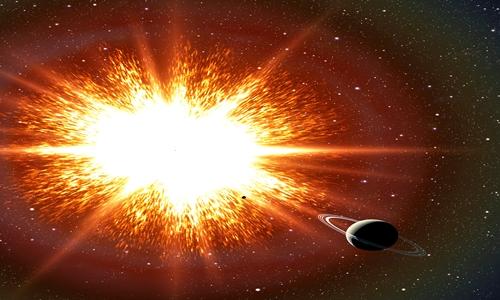 Bức xạ từ vụ nổ siêu tân tinh gần Trái Đất có thể dẫn đến những thay đổi của sự sống trên hành tinh. Ảnh: David Aguilar.