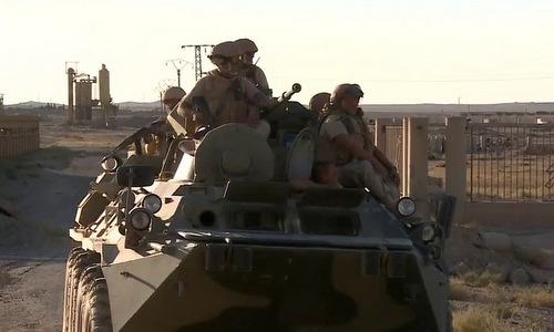 Lính Nga tiến vào Deir Ezzor hồi năm 2017. Ảnh: Al Masdar.