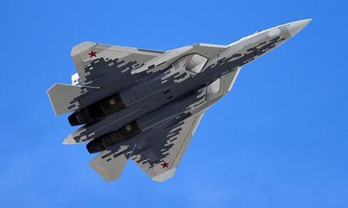Tiêm kích Su-57 trong lễ Duyệt binh Chiến thắng ở Moskva hôm 9/5. Ảnh: Sputnik.