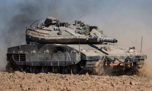 Xe tăng Israel triển khai tới biên giới giáp Dải Gaza hồi năm 2014. Ảnh: AFP.