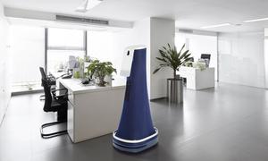Robot bảo vệ chuyên tuần tra nơi làm việc