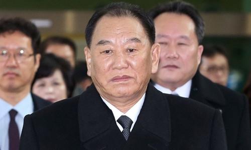Kim Yong-chol đến Hàn Quốc hồi tháng hai. Ảnh: AFP.