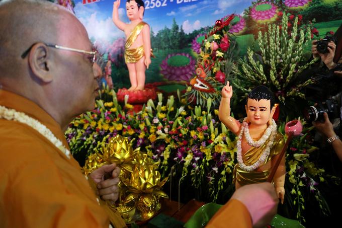 Phó thủ tướng Trương Hòa Bình dự lễ Phật đản