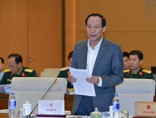Thượng tướng Lê Quý Vương. Ảnh: Quốc hội.