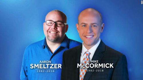 Hai phóng viên Mỹ thiệt mạng khi đang đưa tin về tình hình mưa bão. Ảnh: WYFF.