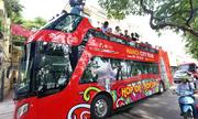 Tuyến buýt hai tầng đầu tiên khai trương ở Hà Nội
