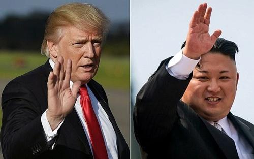 Tổng thống Mỹ Trump và lãnh đạo Triều Tiên Kim Jong-un. Ảnh: AFP.