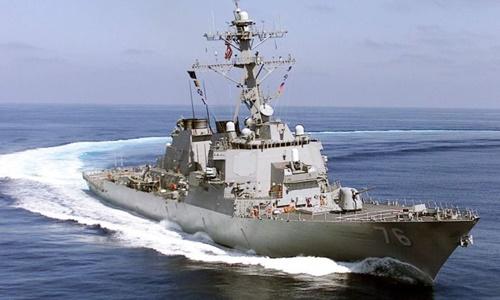 Tàu khu trục USS Higgins của hải quân Mỹ. Ảnh: Wikipedia Commons.