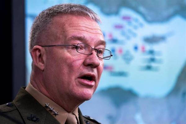Trung tướng Kenneth McKenzie, giám đốc Hội đồng Tham mưu Liên quân Mỹ. Ảnh: Reuters.