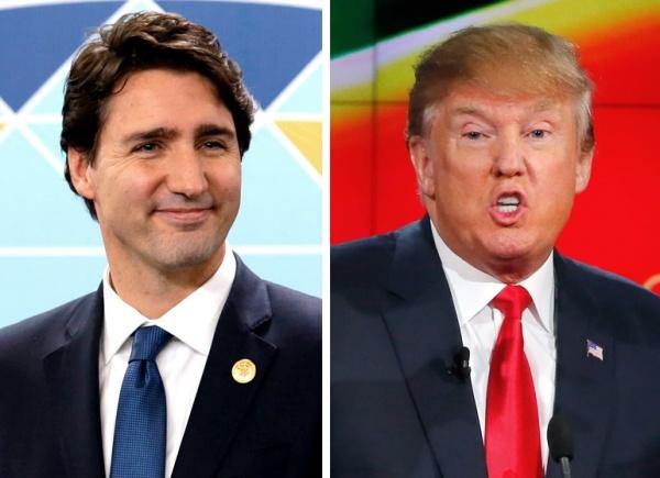 Thủ tướng Canada Justin Trudeau và Tổng thống Mỹ Donald Trump. Ảnh: Reuters.