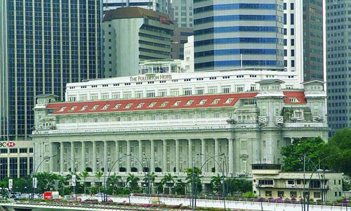 Khách sạn Fullerton Hotel ở Singapore dự kiến là nơi dừng chân của phái đoàn Triều Tiên tại hội nghị thượng đỉnh Mỹ - Triều. Ảnh:Today.