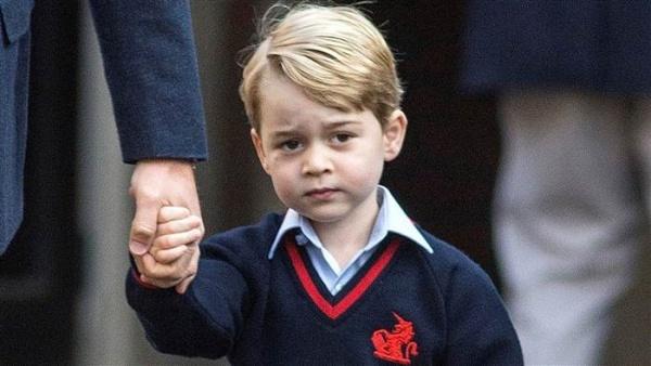 Hoàng tử George, con trai Hoàng tử William và Công nương Catherine. Ảnh: AFP.