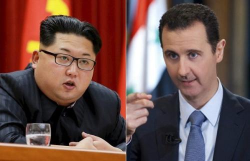 Lãnh đạo Triều Tiên Kim Jong-un và Tổng thống Syria Bashar al-Assad. Ảnh: Breibart.