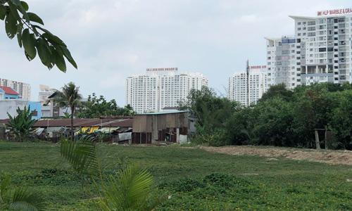 Một phần khu đất Quốc Cường Gia Lai mua của Công ty Tân Thuận. Ảnh:Tuyết Nguyễn.