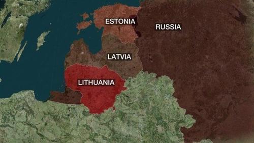 Ba quốc gia vùng Baltic nằm sát biên giới Nga. Đồ họa: Al Jazeera.