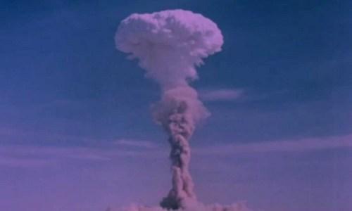 Một vụ thử hạt nhân của Trung Quốc trong thập niên 1960. Ảnh: Sina.