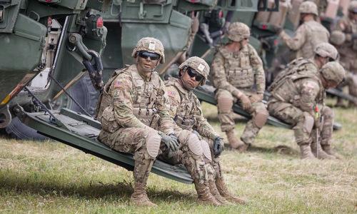 Lính Mỹ tham gia tập trận Saber Strike năm 2017. Ảnh: AFP.
