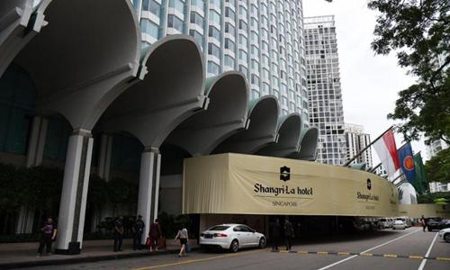 Khách sạn Singapore tại Singapore hôm 1/6, trước thềm Đối thoại Shang-ri La. Ảnh: AFP.