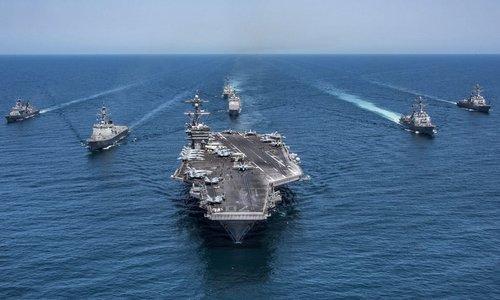 Nhóm tác chiến tàu sân bay Mỹ trên Thái Bình Dương năm 2016. Ảnh: US Navy.
