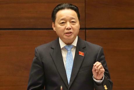 Bộ trưởng Tài nguyên Môi trường Trần Hồng Hà.