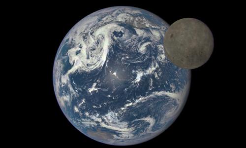 Chuyển động của Mặt Trăng ảnh hưởng đến thời gian trên Trái Đất. Ảnh: NASA.