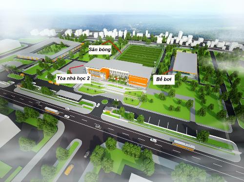 Cơ sở vật chất hiện đại, tiêu chuẩn quốc tế của Trường Quốc tế Singapore Hạ Long.