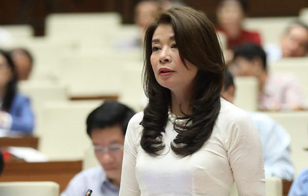 Đại biểu Lê Thu Hà, Uỷ ban đối ngoại của Quốc hội. Ảnh: QH
