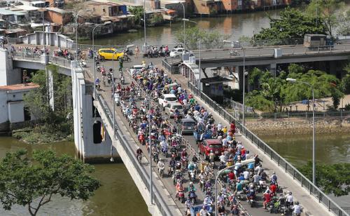 Cầu Chữ Y sẽ được nâng cấp mở rộng từ 9-12 m ở cả 3 hướng. Ảnh: Quỳnh Trần