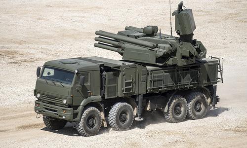 Tổ hợp Pantsir-S1 thế hệ đầu của quân đội Nga. Ảnh:Vitaly Kuzmin.