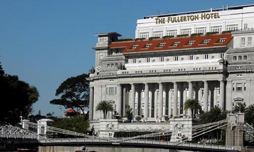 Khách sạn 5 sao Fullerton ở Singapore có thể được Triều Tiên chọn là nơi ở cho lãnh đạo Kim Jong-un. Ảnh: Reuters.