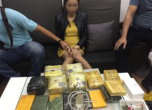 Lô ma túy trong căn hộ chung cư Hà Nội của bà trùm ma túy