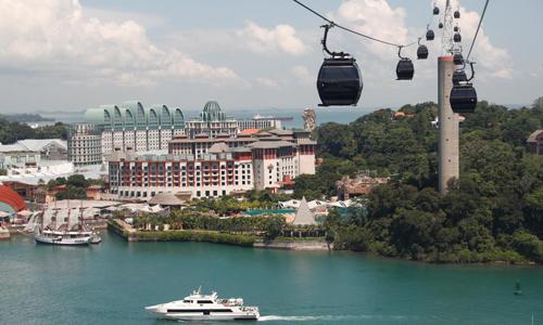 Toàn cảnh đảo Sentosa ở Singapore. Ảnh: Reuters.